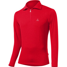 Löffler Basic CF Transtex Sweat-shirt Zip Homme, red